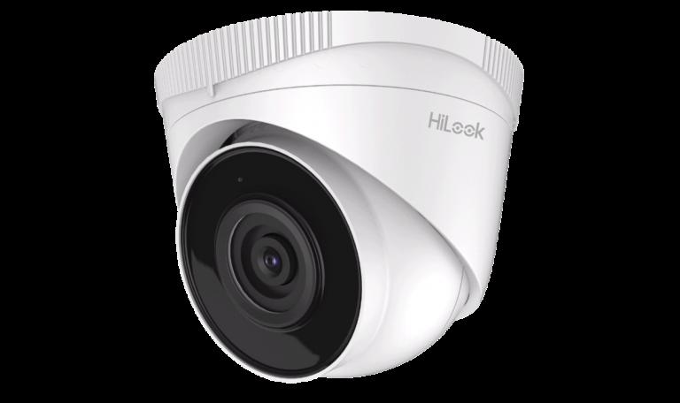 Caméra 2Mp IP Dôme Hilook Audio 2,8mm,IR30m,H265,PoE,IP67,Métal+Plastic