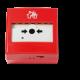 Bouton réinitialisable au moyen d'une clé en plastique (fournie). Condition d'activation indiquée par une bande colorée et une led. Résistance d'alarme sélectionnable.
